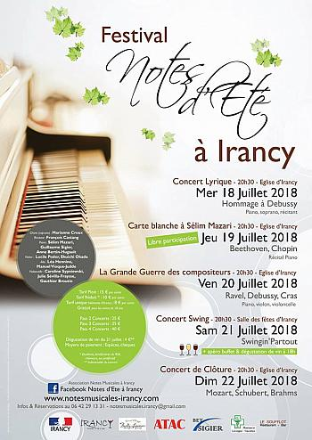 Festival Notes d'été à Irancy